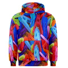 Clothespins Colorful Laundry Jam Pattern Men s Pullover Hoodie by Nexatart