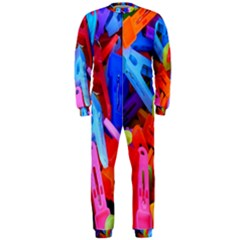 Clothespins Colorful Laundry Jam Pattern Onepiece Jumpsuit (men)  by Nexatart