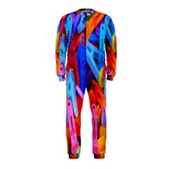 Clothespins Colorful Laundry Jam Pattern Onepiece Jumpsuit (kids) by Nexatart