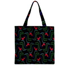 Computer Graphics Webmaster Novelty Pattern Zipper Grocery Tote Bag