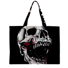 Death Skull Zipper Mini Tote Bag