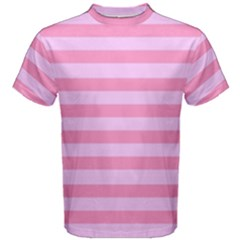 Fabric Baby Pink Shades Pale Men s Cotton Tee by Nexatart