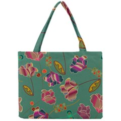Flowers Pattern Mini Tote Bag by Nexatart