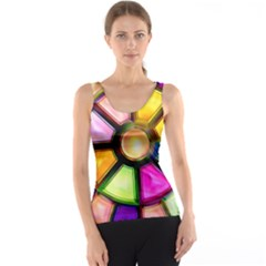 Glass Colorful Stained Glass Tank Top by Nexatart