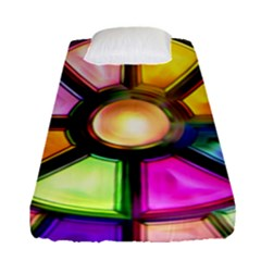 Glass Colorful Stained Glass Fitted Sheet (single Size)
