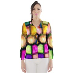 Glass Colorful Stained Glass Wind Breaker (women) by Nexatart