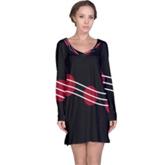 Elegant Abstraction Long Sleeve Nightdress