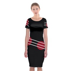 Elegant Abstraction Classic Short Sleeve Midi Dress by Valentinaart