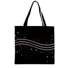 Elegant Abstraction Zipper Grocery Tote Bag