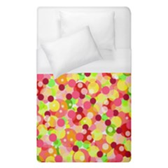 Playful Bubbles Duvet Cover (single Size) by Valentinaart