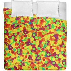 Bubbles Pattern Duvet Cover Double Side (king Size) by Valentinaart