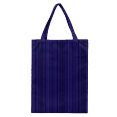 Deep Blue Lines Classic Tote Bag by Valentinaart