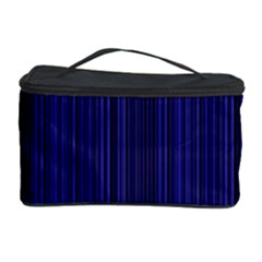 Deep Blue Lines Cosmetic Storage Case by Valentinaart