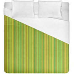 Green Lines Duvet Cover (king Size) by Valentinaart