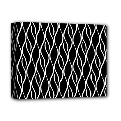 Elegant Black And White Pattern Deluxe Canvas 14  X 11  by Valentinaart