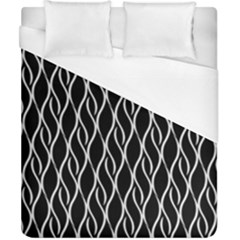 Elegant Black And White Pattern Duvet Cover (california King Size) by Valentinaart