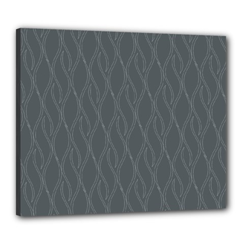 Gray Pattern Canvas 24  X 20  by Valentinaart
