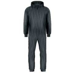 Gray Pattern Hooded Jumpsuit (men)