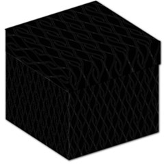 Black Pattern Storage Stool 12   by Valentinaart