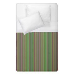 Green Lines Duvet Cover (single Size) by Valentinaart
