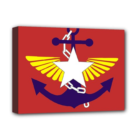 Flag Of The Myanmar Armed Forces Deluxe Canvas 16  X 12   by abbeyz71