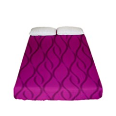 Magenta Pattern Fitted Sheet (full/ Double Size) by Valentinaart