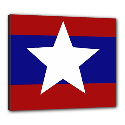 Flag Of The Bureau Of Special Operations Of Myanmar Army Canvas 24  X 20  by abbeyz71