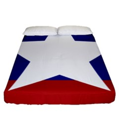 Flag Of The Bureau Of Special Operations Of Myanmar Army Fitted Sheet (queen Size) by abbeyz71