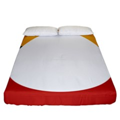 Flag Of Myanmar Shan State Fitted Sheet (california King Size)