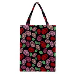 Red And Pink Roses Classic Tote Bag by Valentinaart
