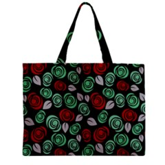 Decorative Floral Pattern Zipper Mini Tote Bag by Valentinaart