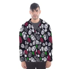 Elegant Roses Design Hooded Wind Breaker (men)