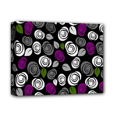 Purple Roses Pattern Deluxe Canvas 14  X 11  by Valentinaart