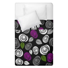 Purple Roses Pattern Duvet Cover Double Side (single Size) by Valentinaart