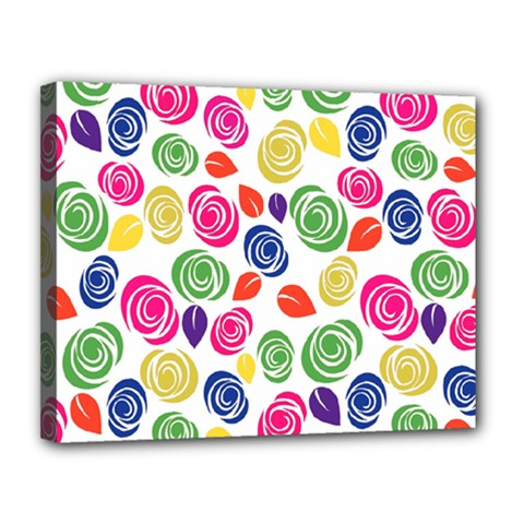 Colorful Roses Canvas 14  X 11  by Valentinaart