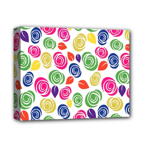 Colorful Roses Deluxe Canvas 14  X 11  by Valentinaart