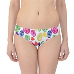 Colorful Roses Hipster Bikini Bottoms