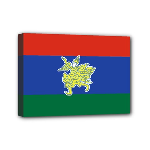 Flag Of Myanmar Kayah State Mini Canvas 7  X 5  by abbeyz71