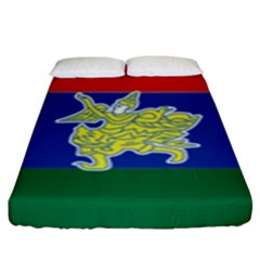 Flag Of Myanmar Kayah State Fitted Sheet (king Size)