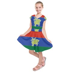 Flag Of Myanmar Kayah State Kids  Short Sleeve Dress by abbeyz71