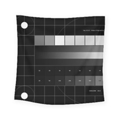 Grayscale Test Pattern Square Tapestry (small) by Nexatart
