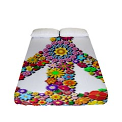 Groovy Flower Clip Art Fitted Sheet (full/ Double Size)