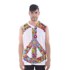 Groovy Flower Clip Art Men s Basketball Tank Top by Nexatart