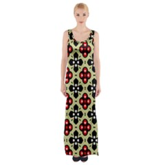 Seamless Tileable Pattern Design Maxi Thigh Split Dress by Nexatart