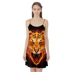 Tiger Satin Night Slip