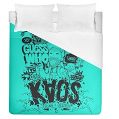 Typography Illustration Chaos Duvet Cover (queen Size)