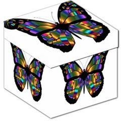 Abstract Animal Art Butterfly Storage Stool 12