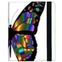 Abstract Animal Art Butterfly Samsung Galaxy Tab 10.1  P7500 Flip Case View3