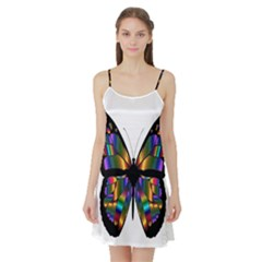 Abstract Animal Art Butterfly Satin Night Slip