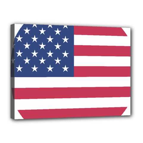 American Flag Canvas 16  X 12  by Nexatart